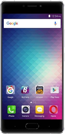 Blu pure xr silver color smartphone