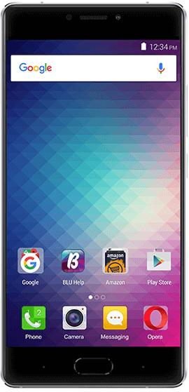 Blu pure xr silver color smartphone
