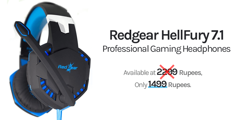 redgear hellFury 7.1 headphone comes with led light and in-line mic