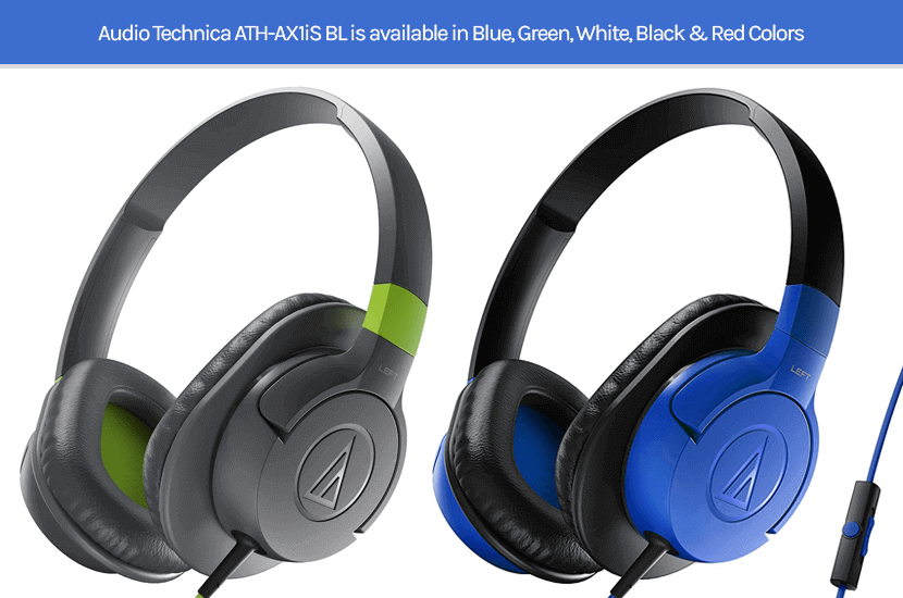 Audio Technica ATH-AX1iS BL Headphone