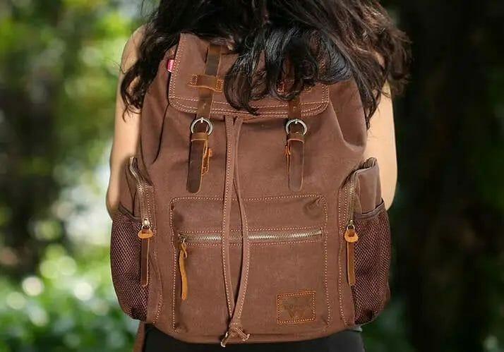 High capacity unisex vintage designed backpack