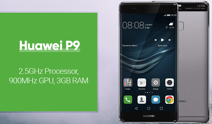 huawei P9 eva-L09 comes with 2.5ghz processor