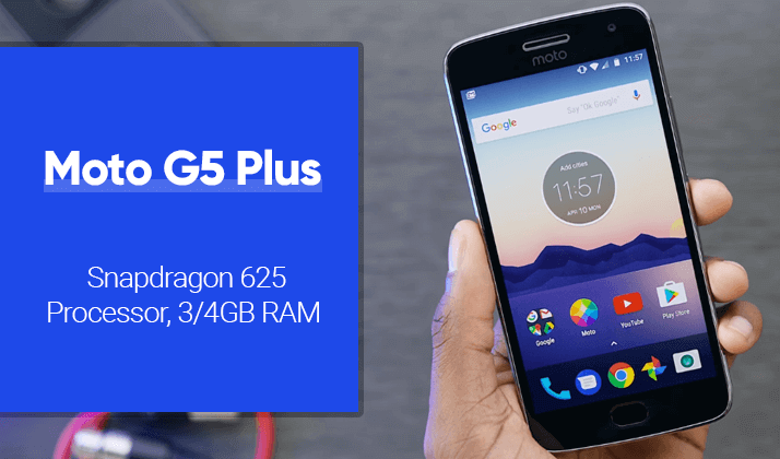 moto g5 plus smartphone with full HD display and 3000mAh battery