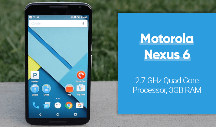 motorola nexus 6 comes with 2.7ghz processor and 3gb ram
