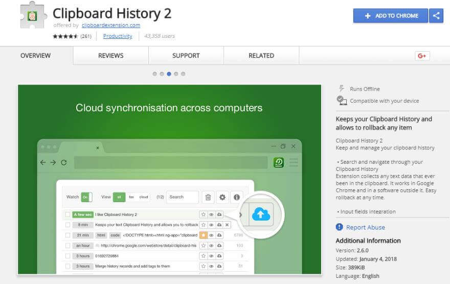 clipboard extension for google chrome