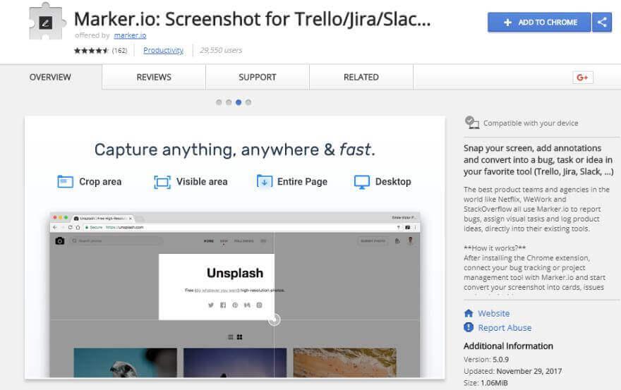 marker screenshot extension