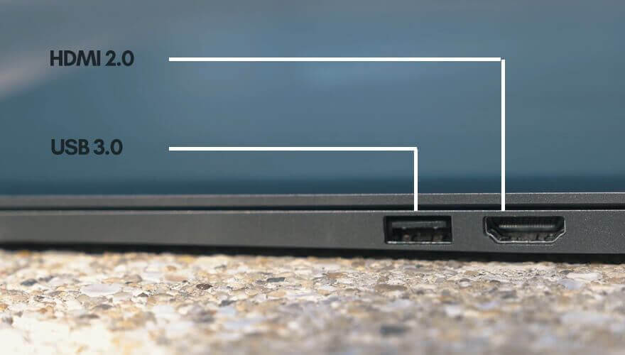 ports on the right hand side