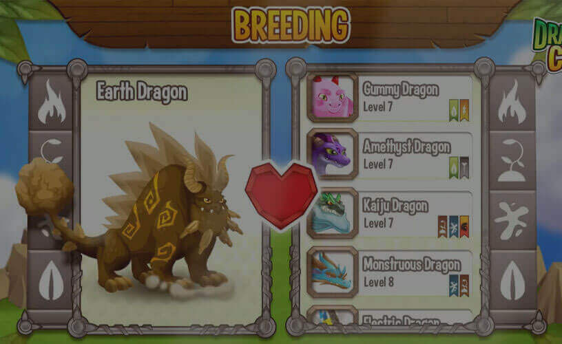 showing how to breed in dragon city mobile game