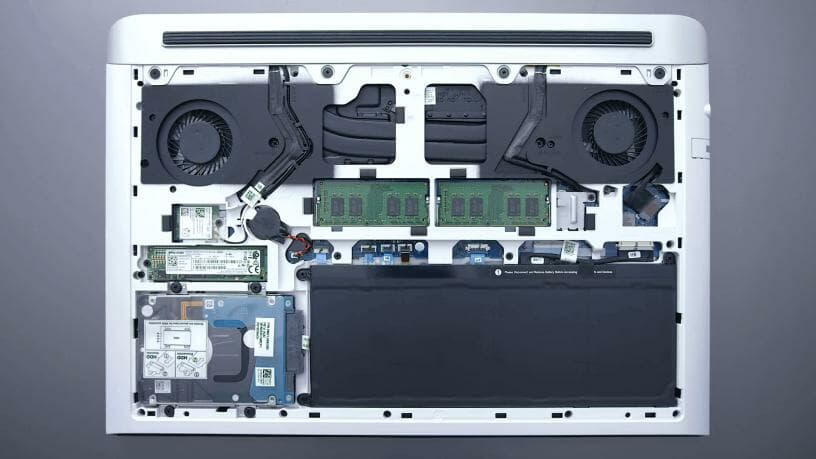 image of dell g7 laptop internal hardware