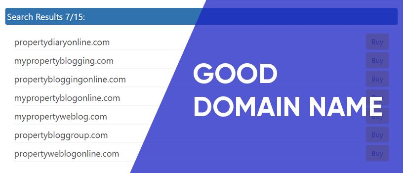 choose a good domain name