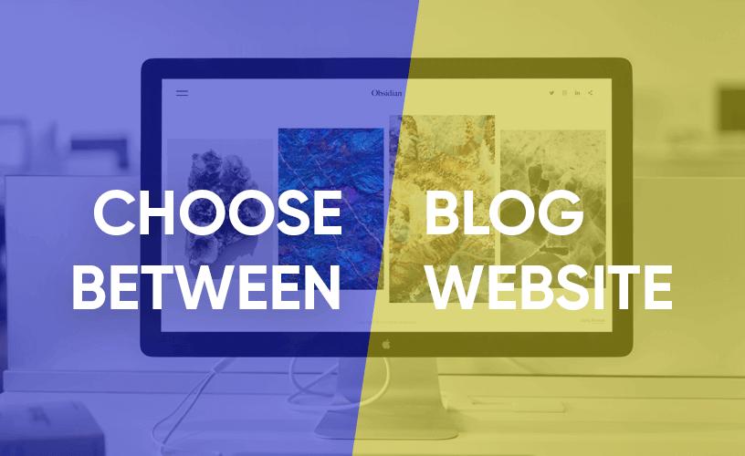 choose between blog and website