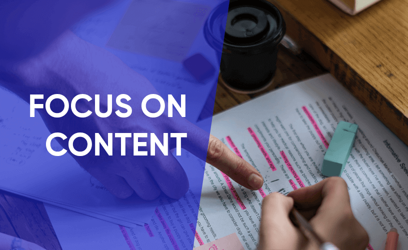 focus on writing contents