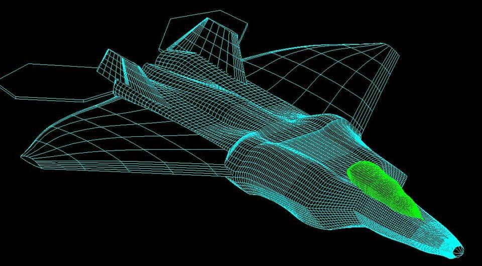 autocad designed fighter plane