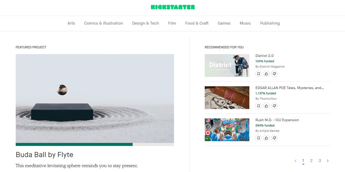 Kickstarter-Crowdfunding-Platform